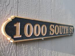 custom house sign outdoor address sign cedar address signs