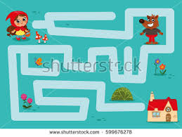 hoods haircutgame maze game little red riding hood stock vector 599676278 shutterstock