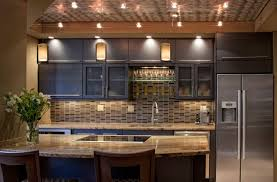 innovative led track lighting kitchen on interior design plan with