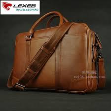 cuir pour bureau lexeb solide brun en cuir hommes porte documents pour 15