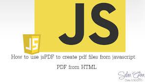 javascript tutorial pdf episode 5 how to use jspdf to create pdf file using javascript