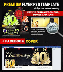 anniversary psd flyer template 6430 styleflyers