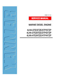 yanmar 4lha dtp marine diesel engine service repair manual