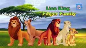 lion king cartoon finger family nursery rhymes lion king finger