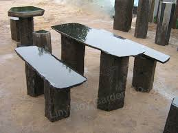 Stone Chair Outdoor Black Basalt Garden Stone Chairs And Tables Buy Chairs