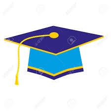 gold tassel graduation blue graduation cap with gold tassel royalty free cliparts