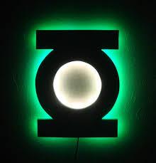 green lantern neon light green lantern led wall light night light