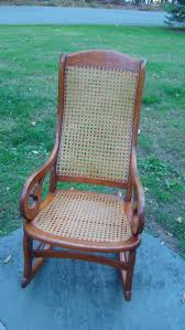 antique cane rocking chair home chair decoration