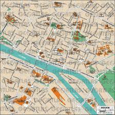 Paris France Map by Rouen Paris France Cruise Port Of Call