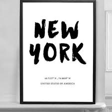 New York City Home Decor New York City America Black And White From Brightpaper On Etsy
