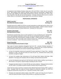 sql developer resume uxhandy com