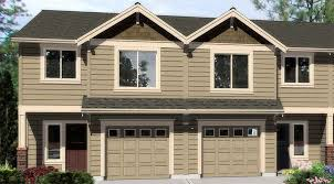 plan 38016lb duplex with matching 20 u0027 wide units double garage