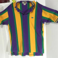 mardi gras polo shirts perlis small mardi gras vertical stripe rugby polo shirt cotton
