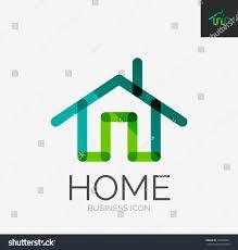 minimal line design logo business home stock vector 230698921 minimal line design logo business home icon branding emblem