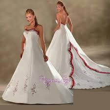 Red And White Wedding Dresses Red And White Wedding Dresses With Straps Red And White Wedding