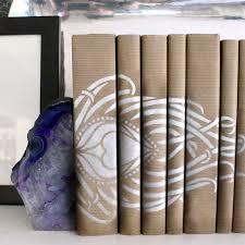 stenciled book spine art book cover stencil diy pinterest