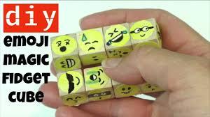 diy indoor games how to make a wooden block emoji magic folding fidget cube cheap