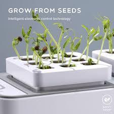 Grow Lights For Indoor Herb Garden - amazon com smart hydroponics indoor herb garden kit by savvygrow