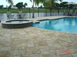 pavers for pool decks artistic pool deck pavers over concrete pool