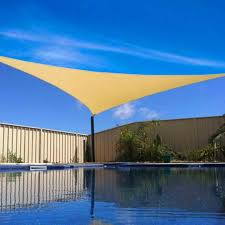 16 x 16 u0027 ft feet triangle uv heavy duty sun shade sail patio cover