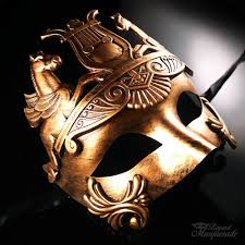 gold masquerade mask god masquerade mask for men