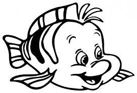 5 images flounder mermaid printable template