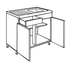 Malton Oak Modern Kitchen Sink Unit Kitchens Instock - Sink units kitchen