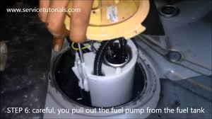 how to replace change fuel pump vw golf mk5 tdi in 12 steps