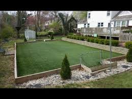 a backyard how to make a backyard artificial turf field youtube