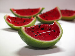 watermelon jello shots in a lime rind yum this is from my search
