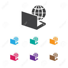 icon bureau vector illustration of bureau symbol on computer icon royalty free