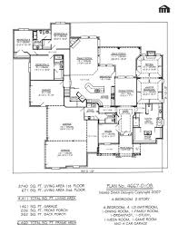 100 1 story 4 bedroom house plans strikingly idea single
