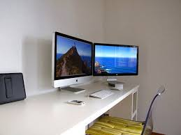 two screen computer desk 19 best mac dual screen riser images on pinterest cubicles home