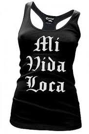 cartel ink mi vida loca tattoo punk racer back womens tank t tee