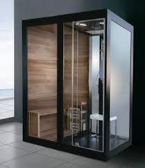 sauna shower steam room combination luxury black aluminium framed