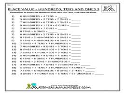 pictures on tens and units worksheets printable wedding ideas
