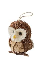 owl ornaments set of 3 for your tree gardeners