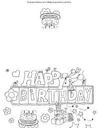 printable birthday cards to color coloring beach screensavers com