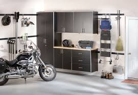 small spaces modern harley davidson garage design with white wall