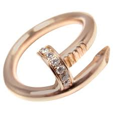 band ring cartier juste un clou diamond gold nail band ring at 1stdibs