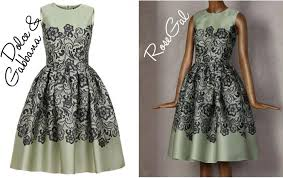 real vs steal mint lace dresses by dolce u0026 gabbana and rosegal