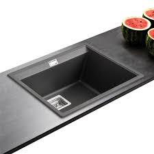 evier cuisine noir 1 bac evier cuisine granit noir avec evier granit 1 bac lira 4 coloris