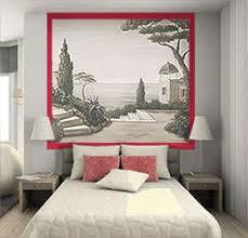 trompe l oeil chambre trompe l oeil sur papier peint ou toile murale monochrome gris
