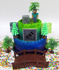 minecraft cake topper minecraft birthday cake topper set featuring steve and