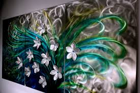 home decor floral floral art metal wall sculpture abstract home decor painting
