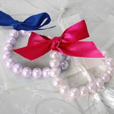 pearl ribbon ribbon tie pearl bracelet