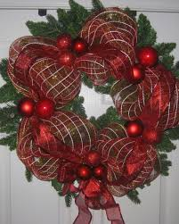 how to m christmas ribbon mesh wrapped wreath diy project easy for