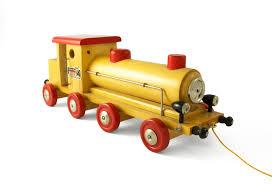 tracteur en bois jouets vintage brio