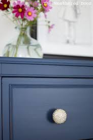 Thomasville Bedroom Furniture Hardware Before And After Stacked Hepplewhite Dresser In Navy The