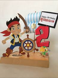 diy jake neverland pirates birthday party centerpiece